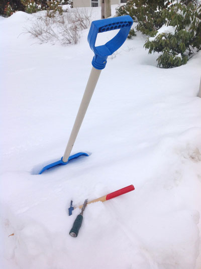 Snow and shovel
